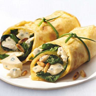 Bildmotiv für Spinach CAMBOZOLA wraps