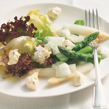 Bildmotiv für Spargelsalat mit CAMBOZOLA und Kartoffel-Vinaigrette